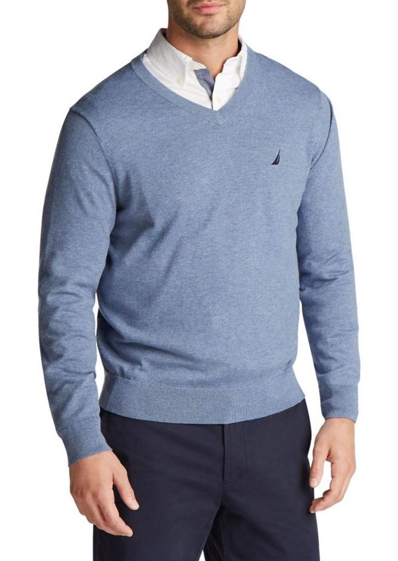 Nautica Navtech Cotton-Blend Jersey Sweater