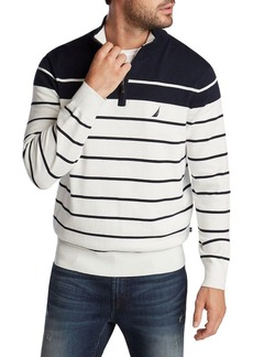 Nautica Navtech Striped Cotton-Blend Sweater