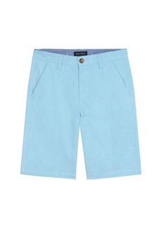 Nautica Oxford Flat Front Short