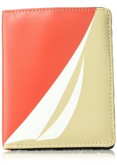 Nautica Pier 83 RFID Deluxe Passport Travel Wallet chili print/indigo