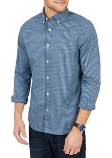 Nautica Plaid Classic-Fit Poplin Button-Down Shirt