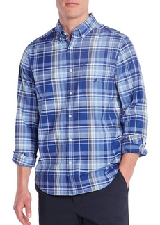Nautica Plaid Classic-Fit Poplin Shirt