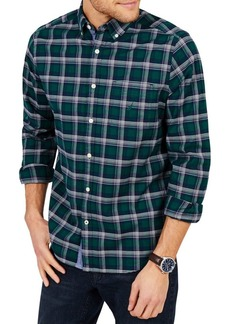 Nautica Plaid Classic-Fit Yarn-Dyed Button-Down Shirt