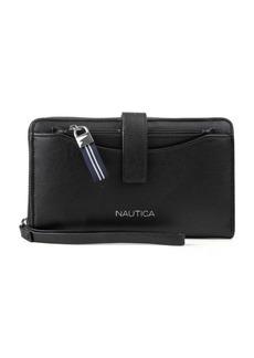 Nautica Plain Sailing Zip-Around Wallet with RFID Wristlet