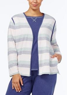 Nautica Plus Size Brushed Jersey Pajama Cardigan