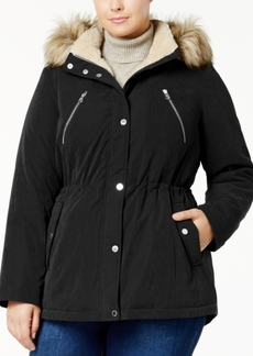 Nautica Plus Size Faux-Fur-Trim Parka