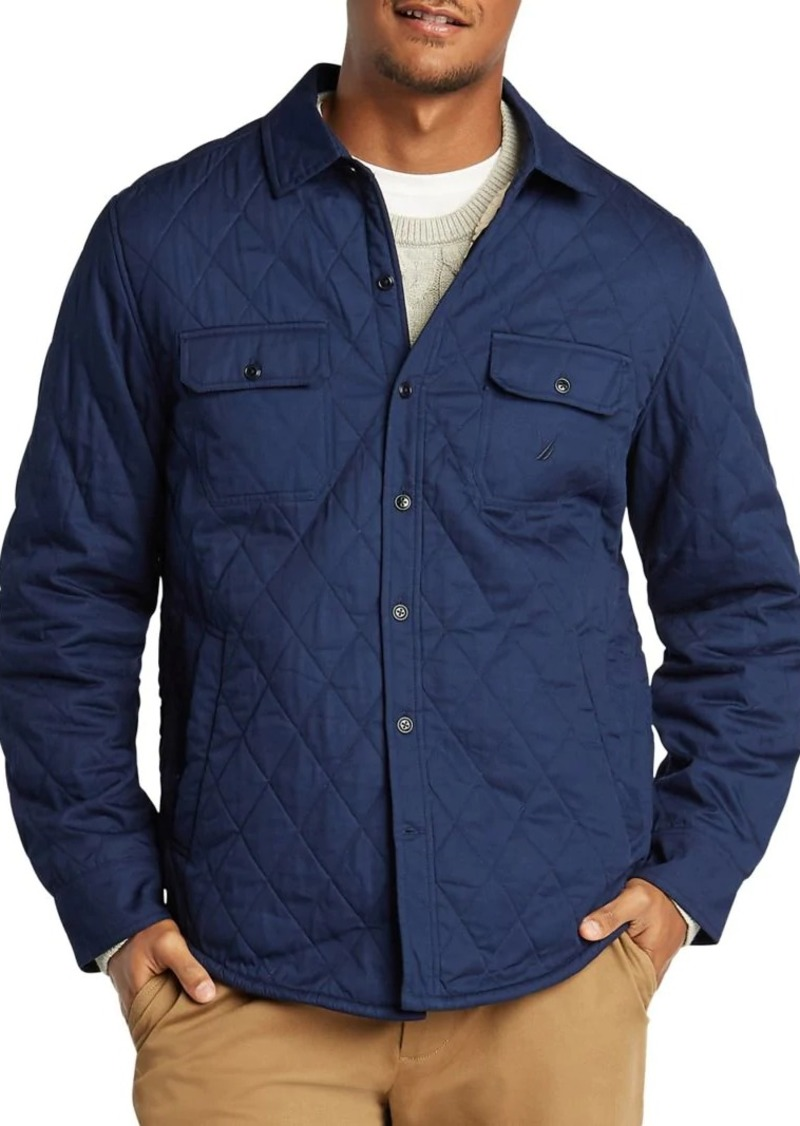Nautica Quilted Cotton Shirt Jacket