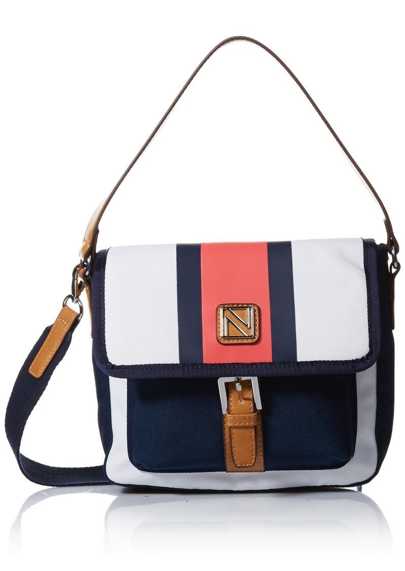 Nautica Seaside Flap Crossbody Shoulder Bag indigo