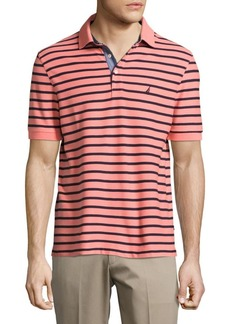 Nautica Short Sleeve Striped Polo