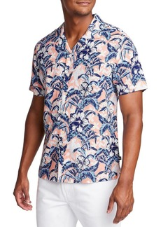 Nautica Short Sleeve Tropical Flower Shirt