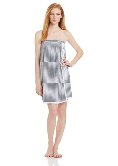Nautica Sleepwear Women's Brenton Strip Shower Wrap