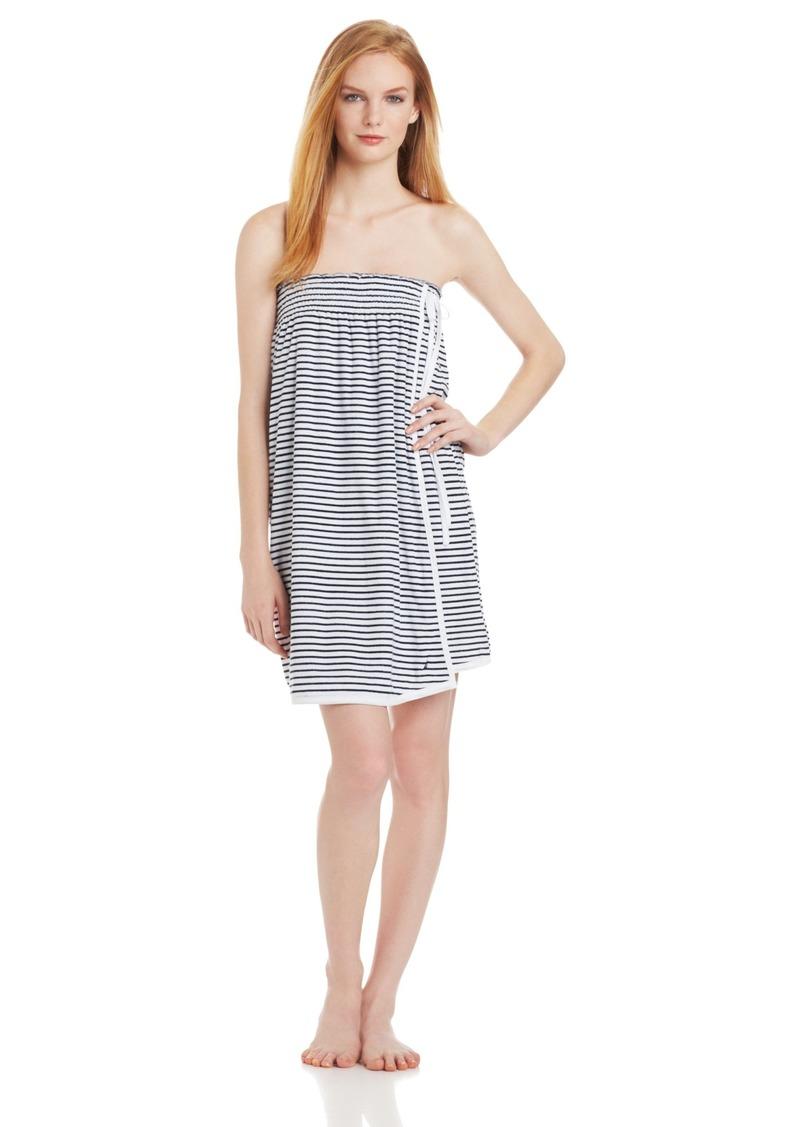 Nautica Sleepwear Women's Brenton Strip Shower Wrap