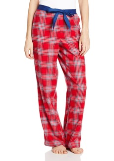 Nautica Sleepwear Women's Flannel Plaid Print Pant