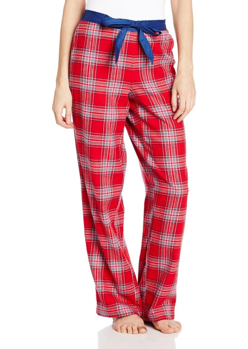 Nautica Sleepwear Women's Flannel Plaid Print Pant