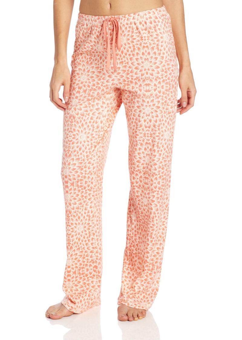 Nautica Sleepwear Women's Floral Brushed Cotton Solid Sleep Pant