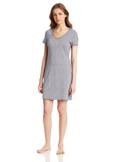 Nautica Sleepwear Women's Knit Jersey V-Neck Sleepshirt
