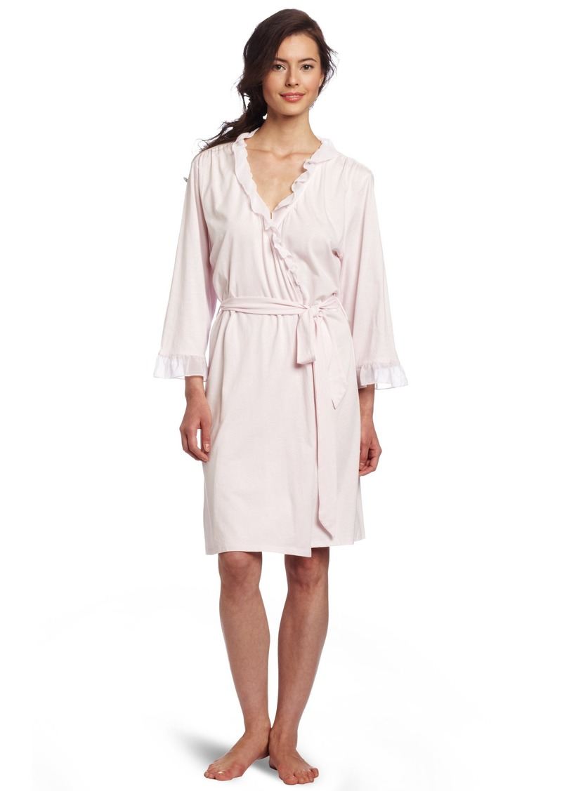 Nautica Sleepwear Women's Knit Ruffle Robe  Large/X-Large