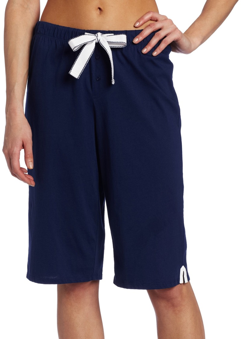 Nautica Sleepwear Women's Knit Solid Skimmer Thermal Bottom