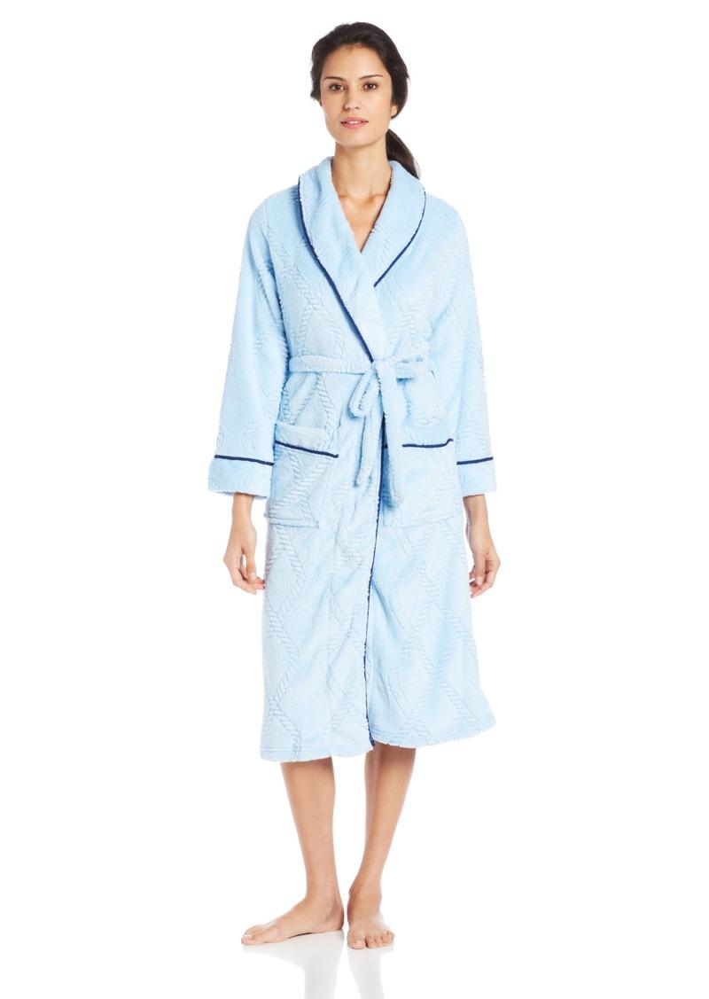 Nautica Sleepwear Women's Plush Ladder Robe