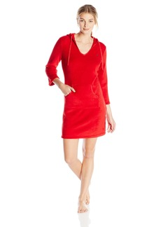 Nautica Sleepwear Women's Plush Solid Hooded Chemise