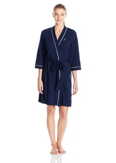 Nautica Sleepwear Women's Short Knit Robe