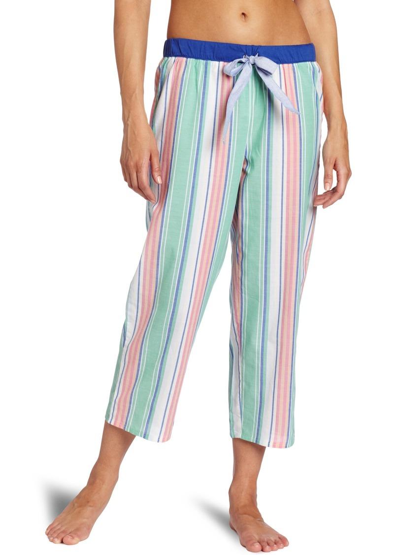 Nautica Sleepwear Women's Stripe Capri Pajama Bottom