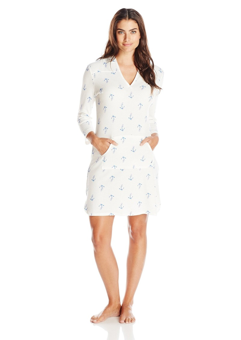 Nautica Nautica Sleepwear Women s Waffle Anchor Print Sleep Shirt ... 924a20331