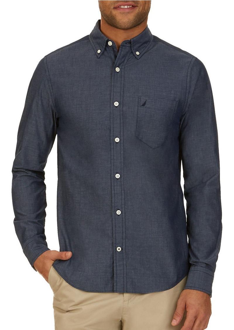 Nautica Nautica Slim Fit Button Down Shirt Casual Shirts