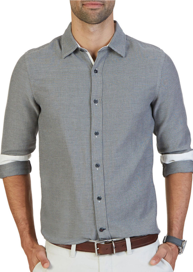 NAUTICA Slim-Fit Cotton Tweed Shirt