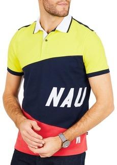Nautica Slim Fit Moisture Wicking Color Block Signature Polo Shirt