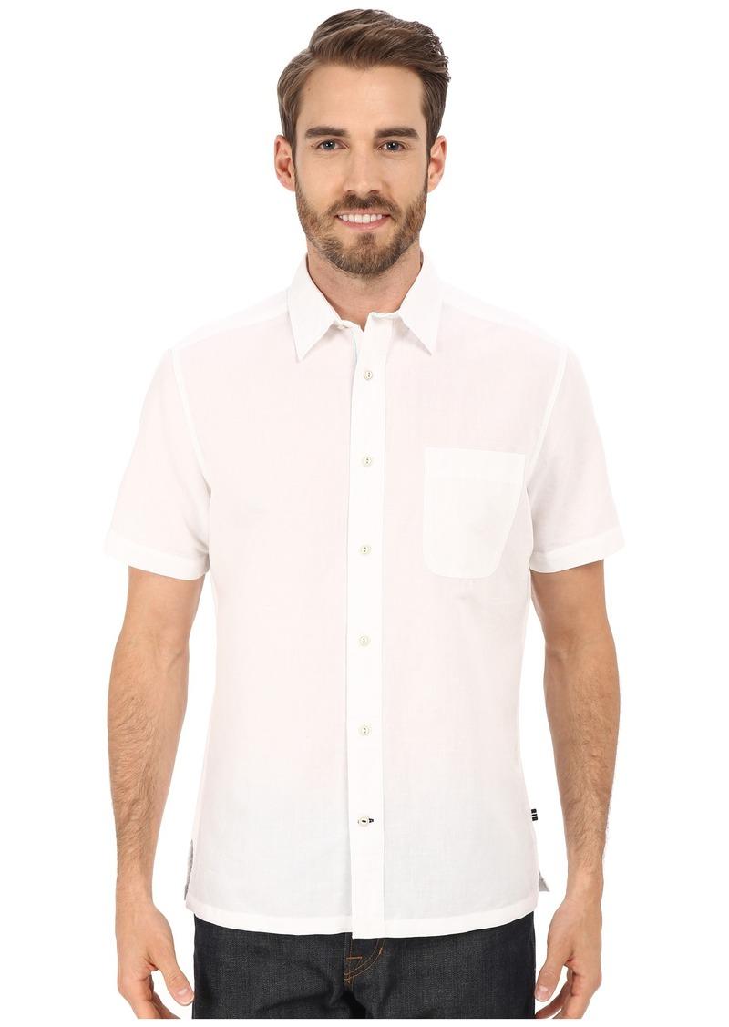 Nautica Slim Fit Ramie Short Sleeve Shirt