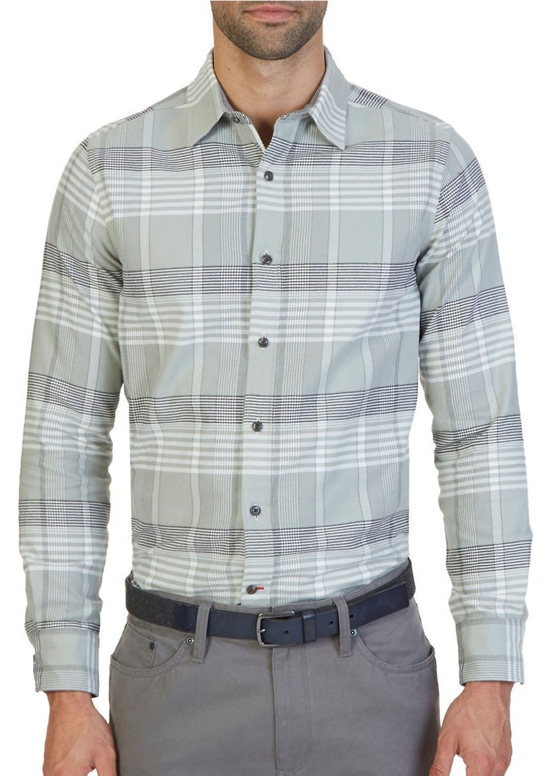 NAUTICA Slim-Fit Seashore Plaid Oxford Shirt