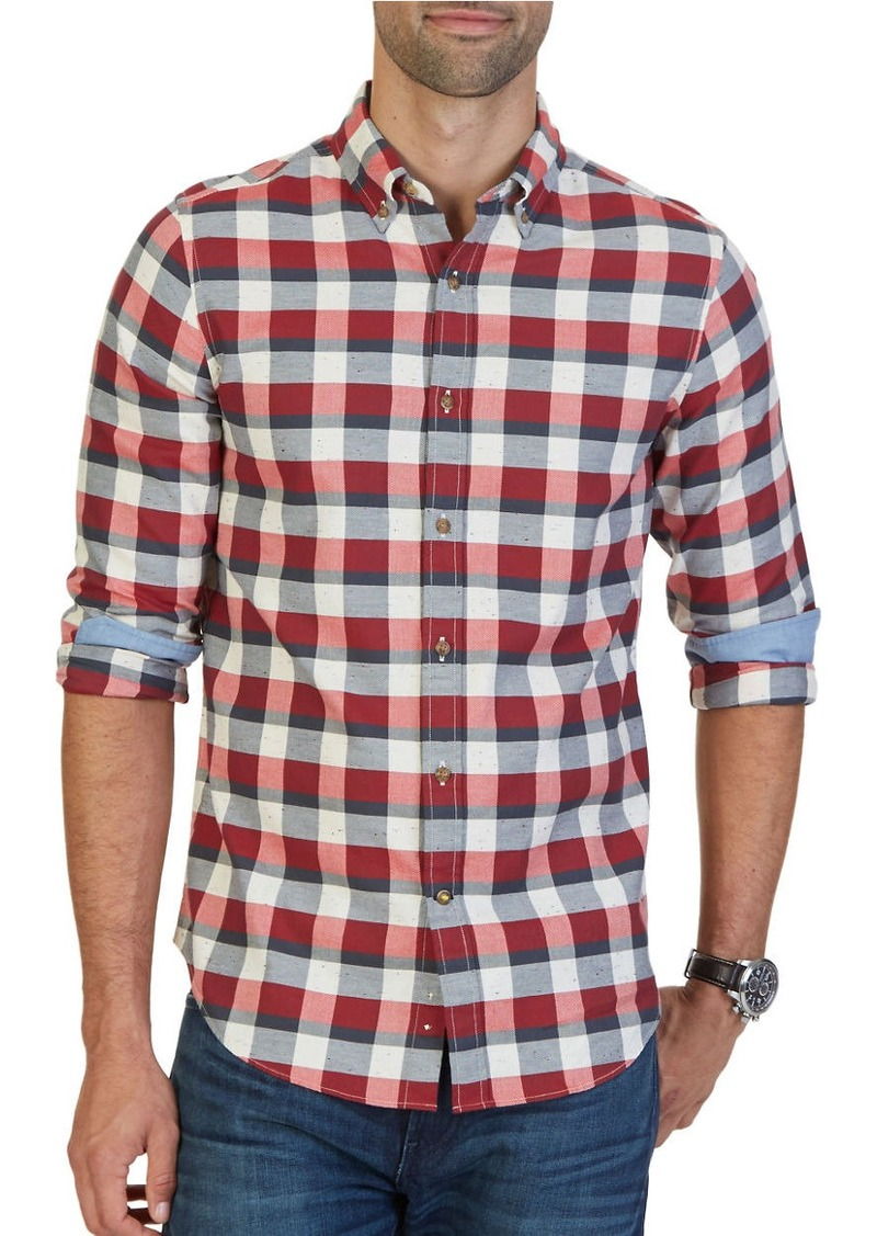NAUTICA Slim-Fit Seedpearl Plaid Shirt