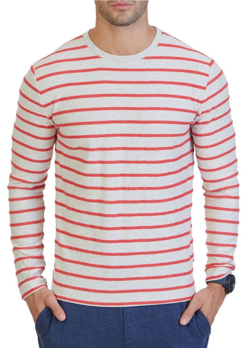 NAUTICA Slim-Fit Striped Terry Crew Shirt