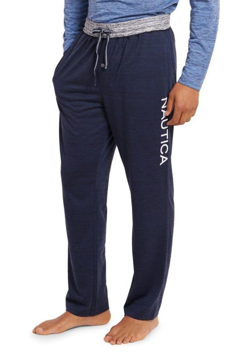 Nautica Space-Dye Logo Lounge Pants