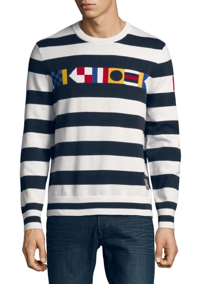 nautica nautica striped signal flag sweater sweaters