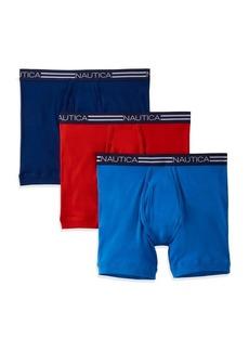 Nautica Three-Pack Cotton Boxer Briefs