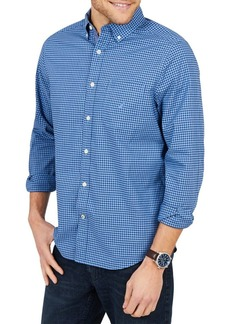 Nautica Tiny Plaid Classic-Fit Button-Down Shirt
