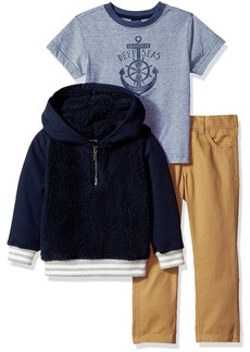 Nautica Toddler Boys' Fleece Pullover Tee and Twill Pant Set