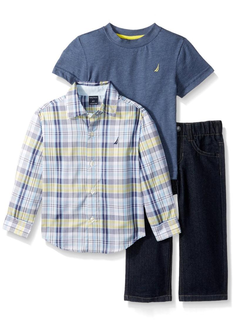 da138074 Toddler Boy Long Sleeve Button Down Shirt | Kuenzi Turf & Nursery