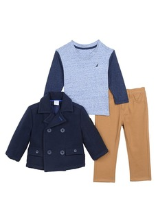 Nautica Toddler Boys' Mariner Peacoat Tee and Pant Three Piece Set