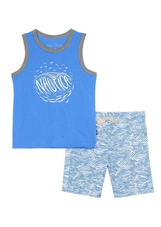 Nautica Boys' Toddler Two Piece Set with Tank Top and Pull On Shorts
