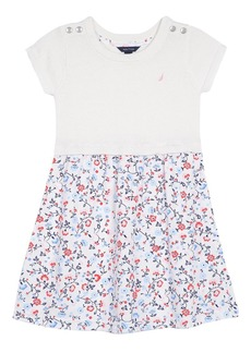 Nautica Toddler Girls' Combination Dress with Sweater Top
