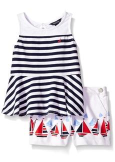 Nautica Toddler Girls' Fashion Top and Shorts Sets