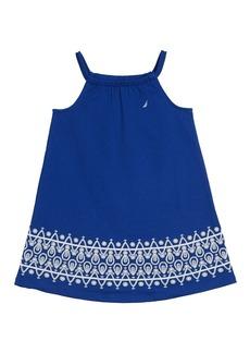 Nautica Toddler Girls' Knit Dress with Border Print