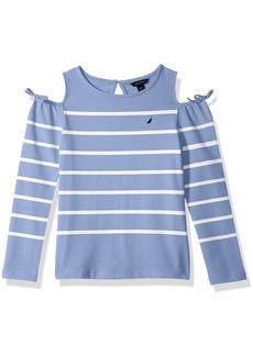 Nautica Girls' Toddler Long Sleeve Fashion Top