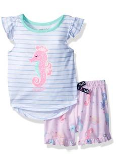 Nautica Toddler Girls' Seahorse Short Pajama Set