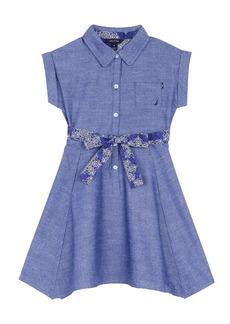 Nautica Toddler Girls' Shirtdress with Handkerchief Hem