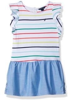 Nautica Toddler Girls' Short Sleeve Fashion Dress