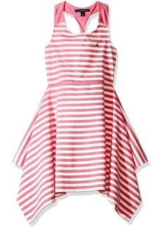 Nautica Toddler Girls' Stripe Knit Dress with Twist Detail
